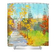 Krakow - Autumn Shower Curtain