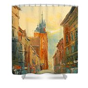 Krakow Florianska Street Shower Curtain