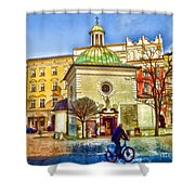 Krakow Main Square Old Town  Shower Curtain