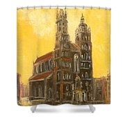 Krakow - Mariacki Church Shower Curtain