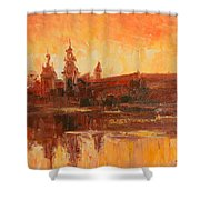 Krakow - Wawel Impression Shower Curtain