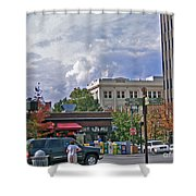 Kress Building Asheville Shower Curtain