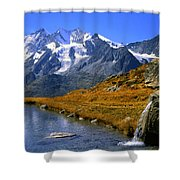 Kreuzboden Lake Shower Curtain