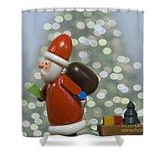 Kris Kringle Shower Curtain by Juli Scalzi