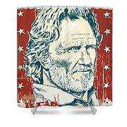 Kris Kristofferson Pop Art Shower Curtain