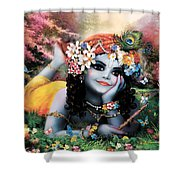Krishna-sky Boy Shower Curtain