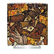 Krumau - Crescent Of Houses. The Small City V Shower Curtain