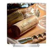 Krupp Brothers Uncorked Shower Curtain