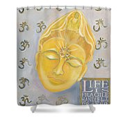 Kuan Yin With Quote Shower Curtain