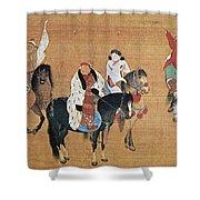 Kublai Khan Hunting Shower Curtain