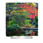 Kubota Gardens In Autumn Shower Curtain
