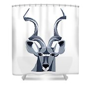 Kudu White Shower Curtain