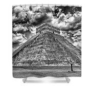 Kukulcan Pyramid V2 Shower Curtain