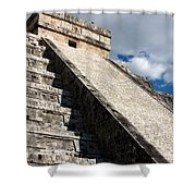 Kukulkan Pyramid Shadows Shower Curtain