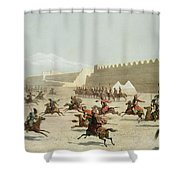 Kurdish And Tatar Warriors At Sadar Shower Curtain