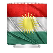 Kurdistan Flag Shower Curtain