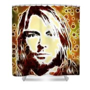 Kurt Cobain Digital Painting Shower Curtain