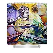 Kurt Cobain- It Aint Medicine Kurt Shower Curtain