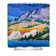 Kvr Railway Bluff Naramata Shower Curtain