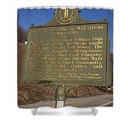Ky-1995 Joseph Alexander Matthews 1902-1970 Shower Curtain