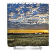 Kyle Barn Sunrise Shower Curtain