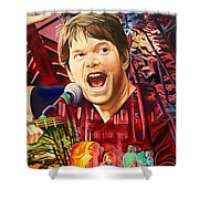 Kyle Hollingsworth At Hornin'gs Hideout Shower Curtain