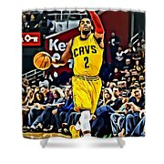 Kyrie Irving Shower Curtain by Florian Rodarte