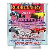 L C Rodrunner Car Show Poster Shower Curtain