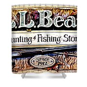 L. L. Bean Hunting And Fishing Store Since 1912 Shower Curtain