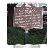 La-001 The Steamer New Orleans Shower Curtain