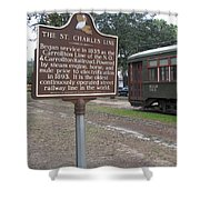 La-006 The St. Charles Line Shower Curtain