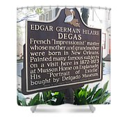 La-012 Edgar Germain Hilaire Degas Shower Curtain