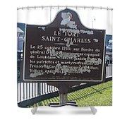 La-013 Le Fort Saint-charles Shower Curtain