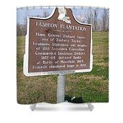 La-020 Fashion Plantation Shower Curtain