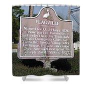La-021 Flagville Shower Curtain
