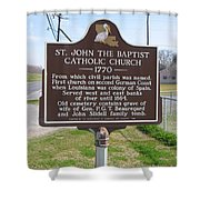La-024 St John The Baptist Catholic Church 1770 Shower Curtain