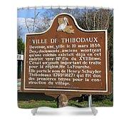 La-036 Ville De Thibodaux Shower Curtain