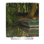 La Barque A Giverny Shower Curtain