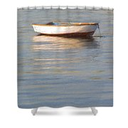 La Barque Au Crepuscule Shower Curtain