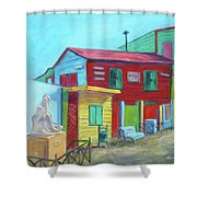 La Boca Morning I Shower Curtain
