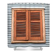 La Boca Shutter Shower Curtain