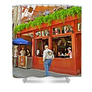 La Cage Aux Sports In Old Montreal-quebec Shower Curtain