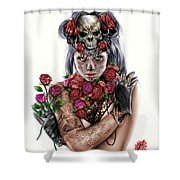 La Calavera Catrina Shower Curtain