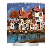 La Cascina Sul Lago Shower Curtain