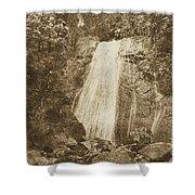 La Coca Falls El Yunque National Rainforest Puerto Rico Print Vintage Shower Curtain