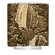 La Coca Falls El Yunque National Rainforest Puerto Rico Prints Rustic Shower Curtain by Shawn O'Brien