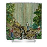 La Coco Falls El Yunque Rain Forest Puerto Rico Shower Curtain