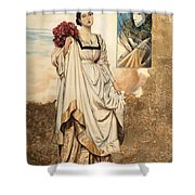 La Dama E Il Carnevale Shower Curtain