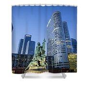 La Defense Memorial Shower Curtain by Brian Jannsen