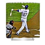 La Dodgers Matt Kemp Shower Curtain